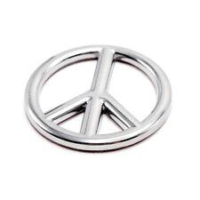 Badge Emblem Logo Peace Shape Chrome Trim Fits Univeresal Car Toyota Honda Mazda