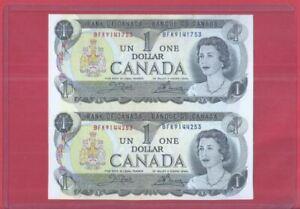 Canada 1 Dollar 1973 Uncut 2-In-1 (UNC) BFK 9141753 BFK 9144253