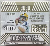 Sage Hit Premier Draft Low Series Football HOBBY NFL 2020 16 Autographs!