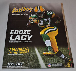 MINT! Eastbay Catalog EDDIE LACY Cover Greenbay Packers #27 Under Armor Aug 2014