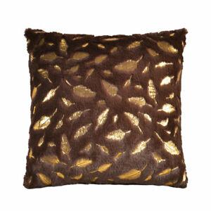 Pillow Case Golden Leaf Pattern Home Bedroom Sofa Decor Super Soft Cushion Cover
