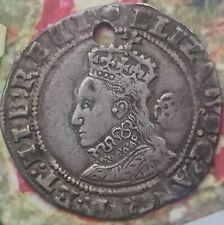Elizabeth 1st 6d datée 1593