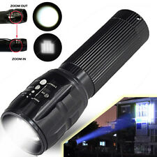6000LM Focus Zoomable CREE XM-L T6 LED Flashlight Torch Super Bright Light AAA