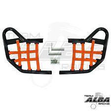 Yamaha Raptor 250 125  Nerf Bars  Alba Racing  Black bar Orange net    192 T1 BO