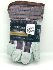 24 Pair BUFFALO OUTDOORS Heavy Duty Leather Palm Work Gloves 716762WW-3