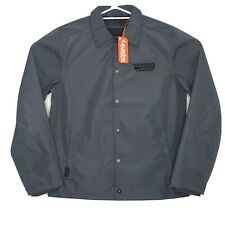 Superdry Men's Coach Jacket Navy SIZE MED Windbreak Coat - BRAND NEW WITH TAGS