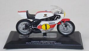 """1975 YAMAHA YZR OW23 500 AGOSTINI RACING L=4"""" 100mm SCALE 1:18 MODEL DIE CAST"""