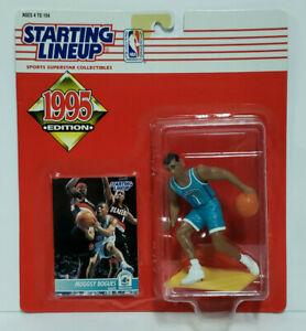 MUGGSY BOGUES Charlotte Hornets SLU NBA Starting Lineup 1995 Action Figure &Card