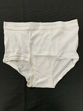 Vtg Calvin Klein Mens White Cotton Hip Briefs Underwear NEW Size 34