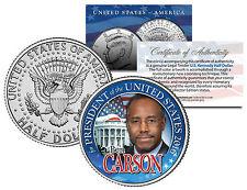 BEN CARSON FOR PRESIDENT 2016 - JFK Half Dollar US Coin Political CAMPAIGN
