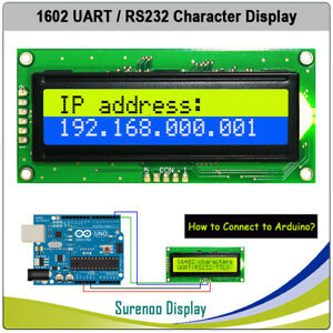 RS232 UART CMOS 1602 162 Character LCD Module Display Screen Panel for Arduino