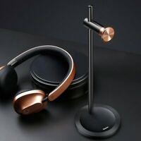 Over Ear Wireless Bluetooth Kopfhörer Kabellos Headset Rot Gold + Halterung