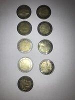 EINZELNE Sondermünzen 2 euro Bundesländer