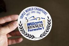 Renault Clio Williams - World Champions 1992 1993 1994 window sticker