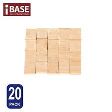 20x Wooden Alphabet Scrabble Tiles Blank Nil Scrapbooking Complete Handcraft