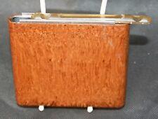 Vintage Parker Wunup Brown Bakelite Cigarette Case Sliding Top, Spring Loaded.