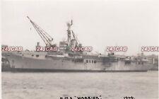 "Original Photograph Royal Navy. HMS & HMCS ""Warrior"" Aircraft Carrier. 1946"