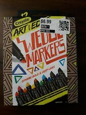 (6) Boxes Crayola Art with Edge Wedge Markers 12 Count Dynamic Bold Crisp Lines