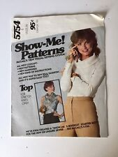 McCall's 5474 Vintage 1970s Show Me Pattern Knit Top Cowl Neck