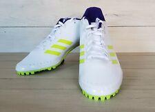 Adidas Sprintstar Track & Field Spikes White/Neon/Blue CP9081 Mens Size 12.5