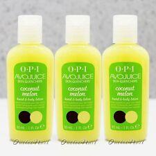 LOT 3 - OPI Avojuice COCONUT MELON Skin Quenchers Hand Mini Lotion 30 mL 1 oz