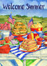 Toland Patriotic Picnic 28 x 40 Welcome Summer House Flag