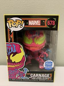 FUNKO POP! Black Light Carnage 678 Funko Shop Limited Edition IN-HAND FREE SHIP