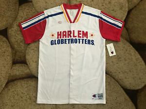 Champion Original Harlem Globetrotters S/S Warm Up Shirt Mens Size Medium NWT