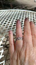 Beautiful Tiffany & Co Diamond Hearts Platinum Band Ring