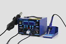 UK-YIHUA 862BD+ SMD HOT AIR REWORK STATION WITH SOLDERING IRON NEW 220V
