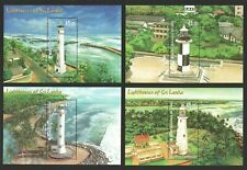 SRI LANKA 2018 LIGHTHOUSES 4 X SOUVENIR SHEET OF 1 STAMP EACH IN MINT MNH UNUSED