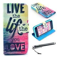 iPhone 5C Case, Speedtek LiveTheLife Pattern Premium PU Leather Wallet Flip