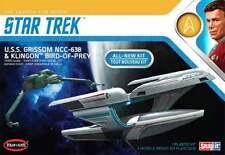 1/1000 Polar Lights StarTrek U.S.S. Grissom NCC-638 & Klingon Bird of Prey #957