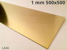 Lastra lamiera Ottone CuZn37 CW508l R350 s/cruda da 1 mm 500x500