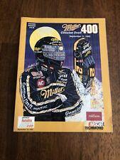 1993 NASACR Richmond International Raceway Miller 400 Souvenir Magazine