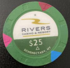 $25 Casino Chip - RIVERS CASINO AND RESORT SCHENECTADY, NY - Paulson H&C