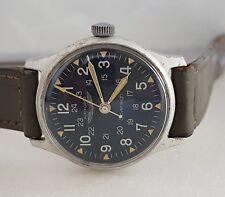 Vintage Military Issued 24-hrs AIR FORCE Hand Wind Wrist Watch SWISS, Korean War