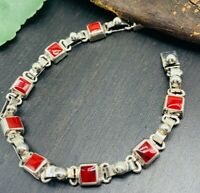 Taxco Mexico Red Jasper Bracelet Mexican 925 Solid Sterling Silver - NEW!!