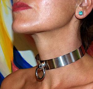 BDSM Halsband Edelstahl Edelstahlhalsband Metallhalsband HANDARBEIT auf Maß neu