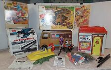 VINTAGE Mattel Big Jim MEGA LOT Sky Commander, Camper, Cycle, Studio, River Trip