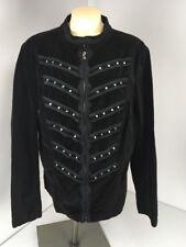 TRIPP  Womens Size 2 Black Velvet Jacket Coat Steampunk Goth full Zip lace