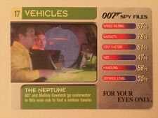 For Your Eyes Only The Neptune #17 Vehicles - 007 James Bond Spy Files Card
