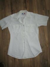 "Rare Vintage Flying Cross Women's US Military Shirt Top Fits up to 34"" Chest Sm"