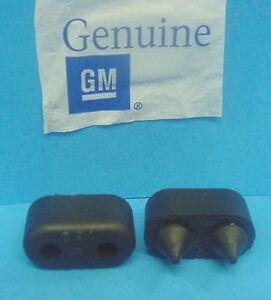 Qty 2 Genuine GM 1967-1990 Pontiac Rubber Front Door Bumpers Stops Jamb NOS