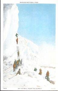 Rainier National Park, Ice Wall Near Summit, Washington, Postcard