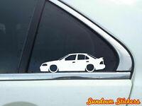 2X Lowered car outline JDM stickers - For Nissan Sentra SE-R (B15) L862