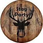 Whiskey Barrel Head Stag Party Beer Drinking Deer Hunting Bachelor Bar Sign