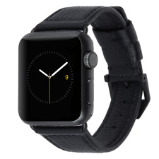 CASE MATE Apple Watch Band 38mm Series 1 2 & 3 Edition Pebbled Leather || Black