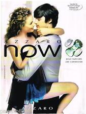 PUBLICITE ADVERTISING 095  2008  AZZARO  parfum NOW  grand prix design