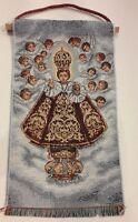 ARAZZO GESÙ BAMBINO DI PRAGA CM 33 x19 IN COTONE PRODUZIONE ARTIGIANALE ITALIANA